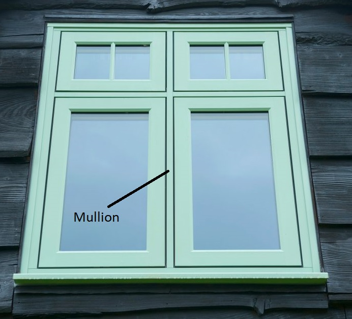 Window mullion uPVC slimline window