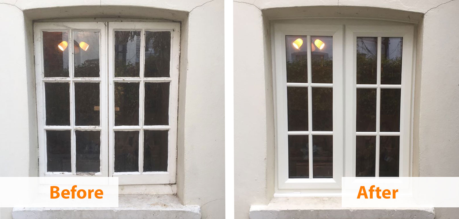 Before and After Georgian Windows