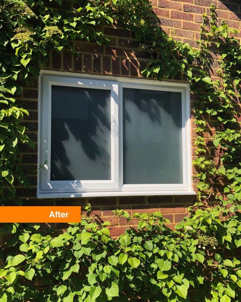 After slimline window installed