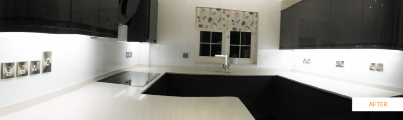After splashback installation