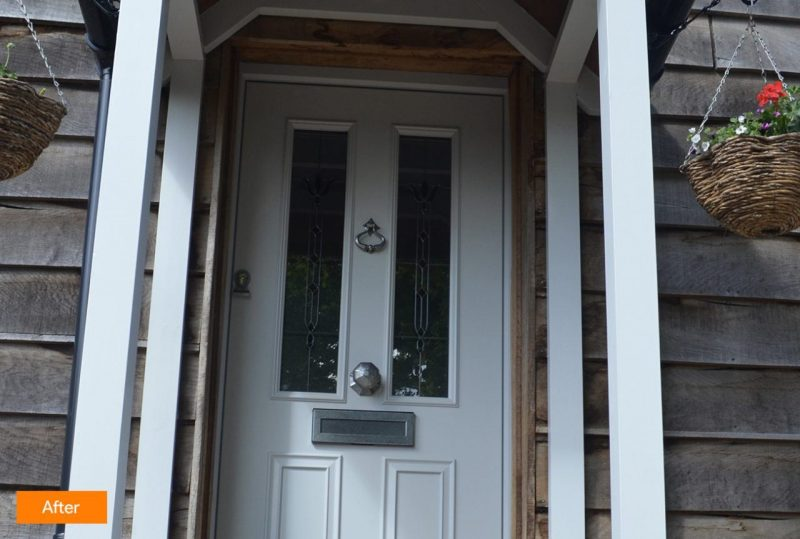 After timber door installation