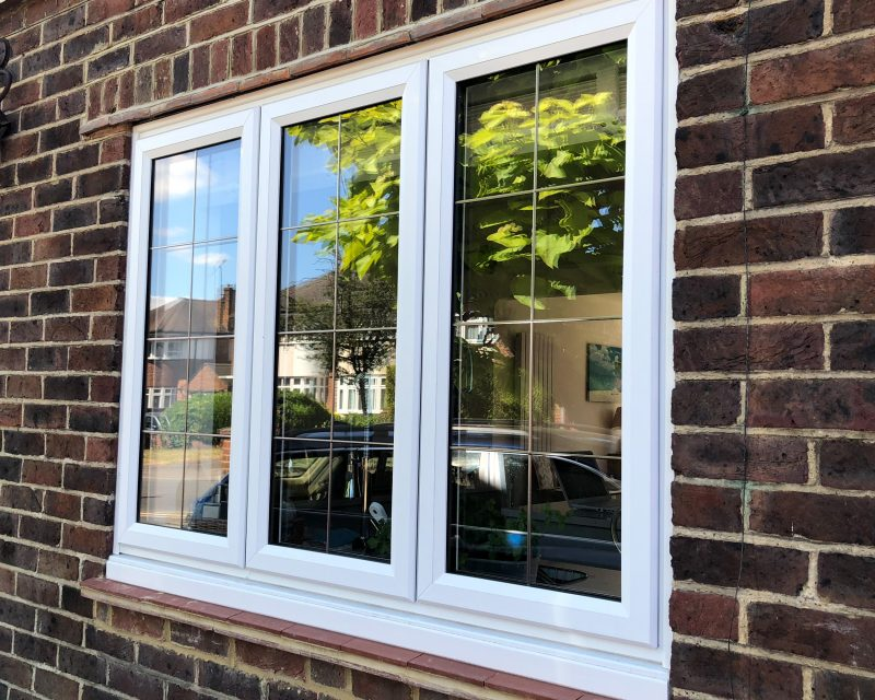 slimline windows rectangular leading