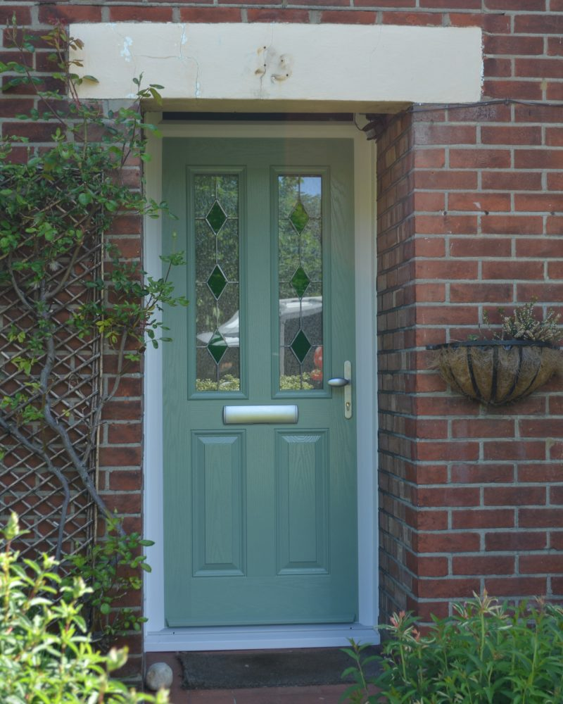 Green benchmark traditional door