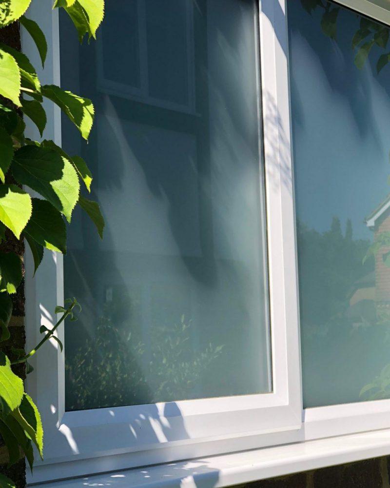 Close up slimline window