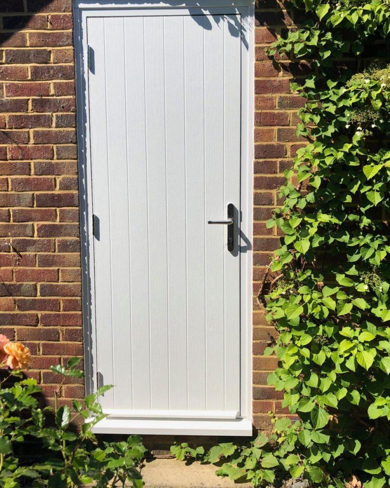 Composite garage door installation