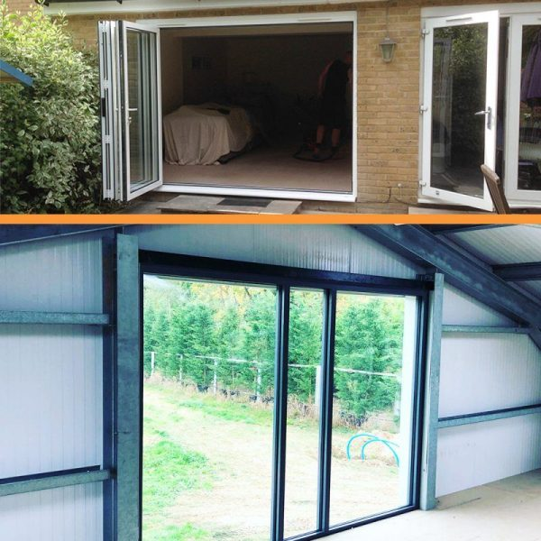bi-fold and sliding door square