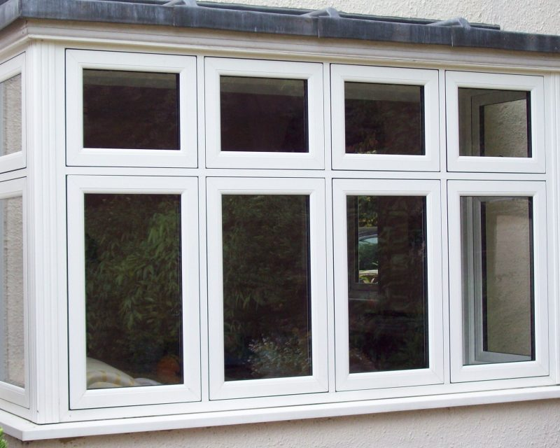 flush casement white textured windows