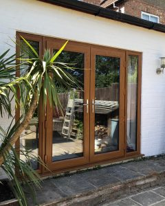 golden oak upvc french doors