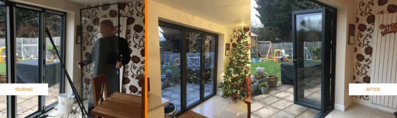 grey bi-folding doors surrey