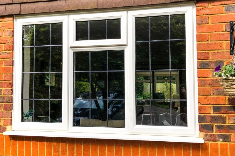 upvc woodgrain window leading