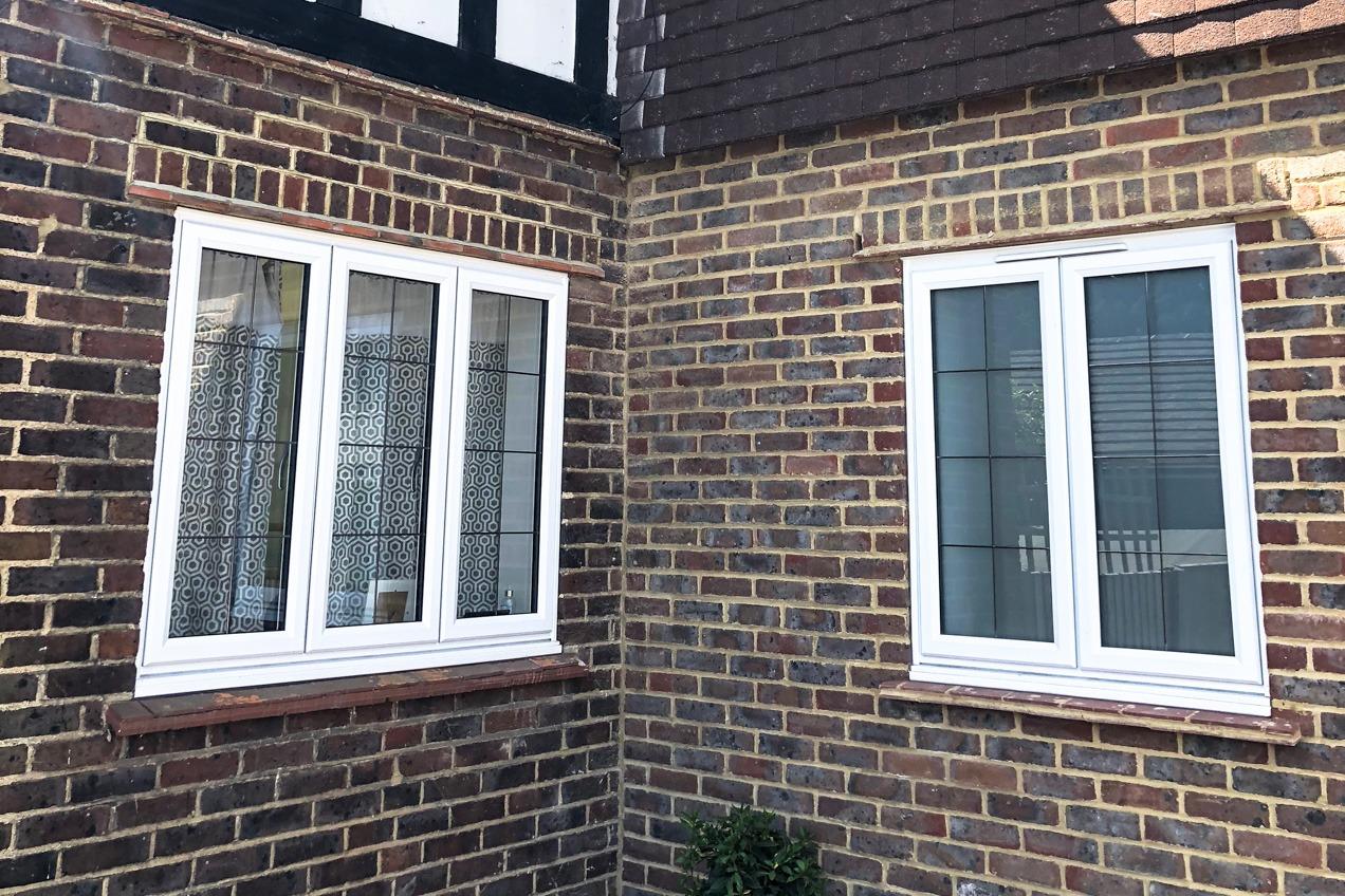 slimline window leaded project