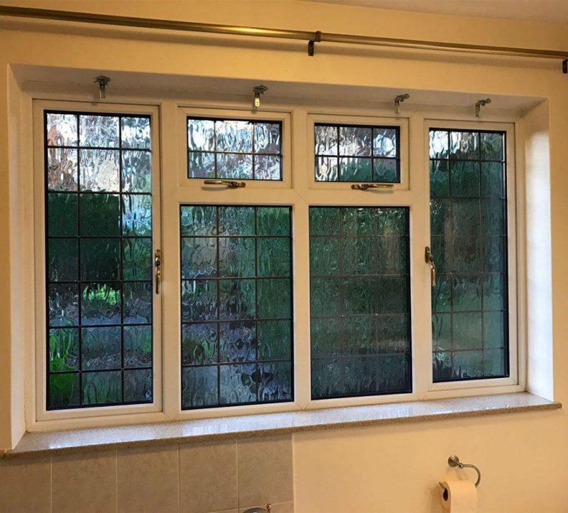 Interior woodgrain window