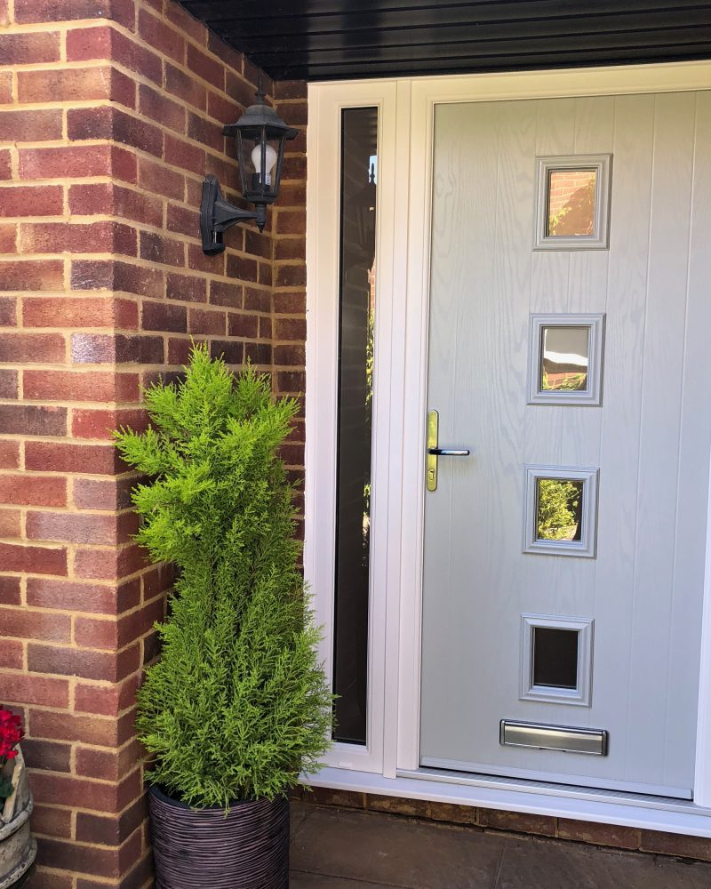 light grey composite door