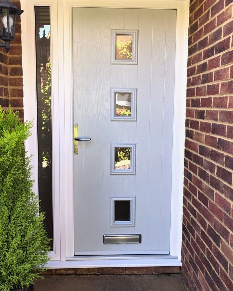 Light grey composite door in Woking, Surrey