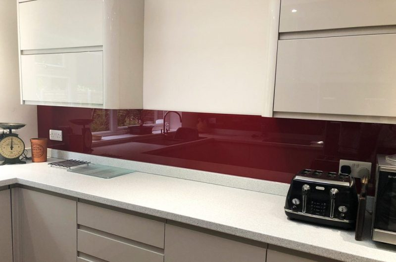Red splashbacks woking