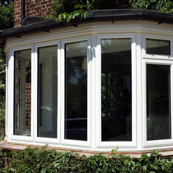 slimline uPVC bay window