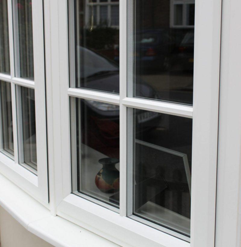 slimline white uPVC window
