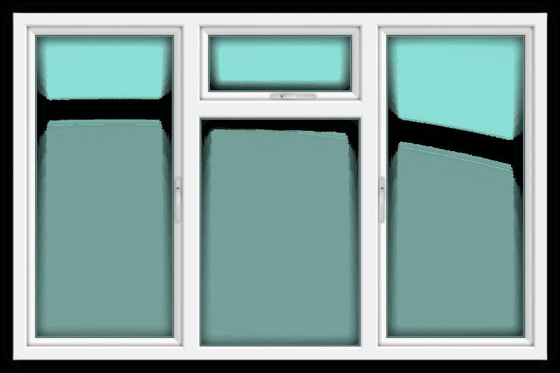 Slimline White Window