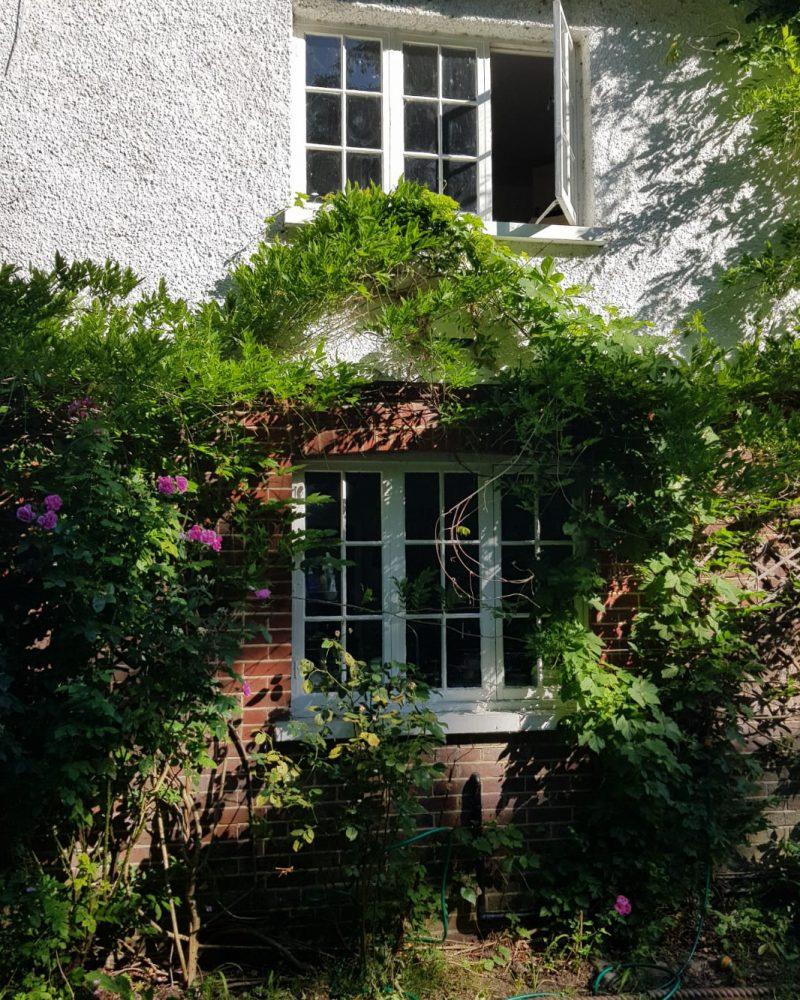 timber alternative flush sash windows before