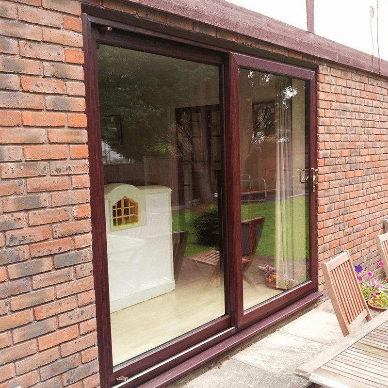 Timber Sliding Back Doors