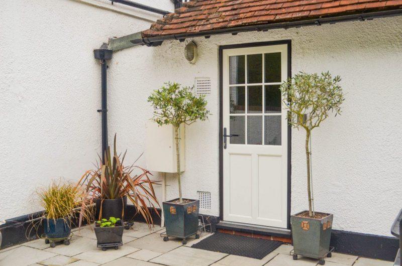 upvc woodgrain door