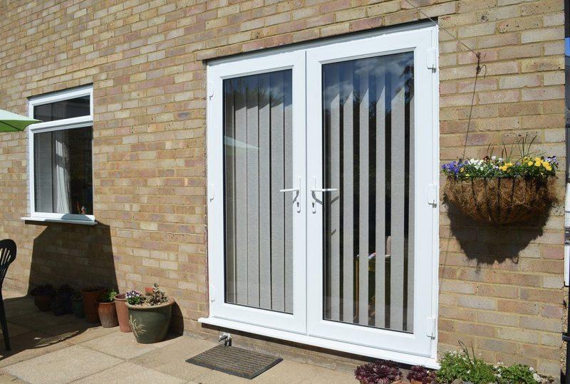 White slimline doors