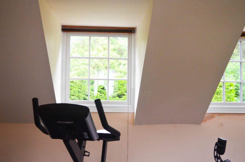Windows installed in gym