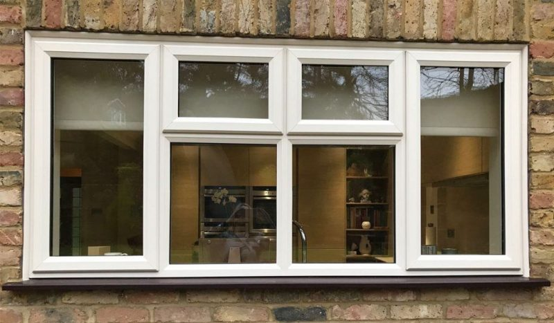 UPVC wood grain foil windows