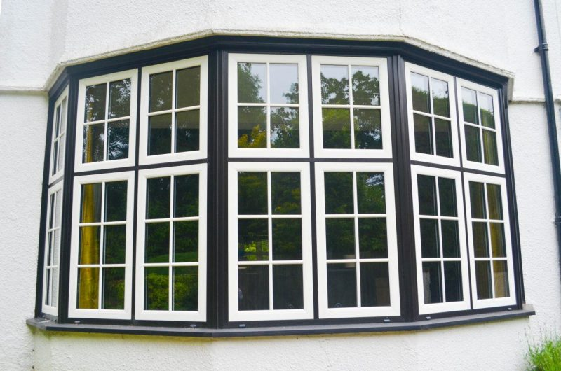 Woodgrain effect upvc windows