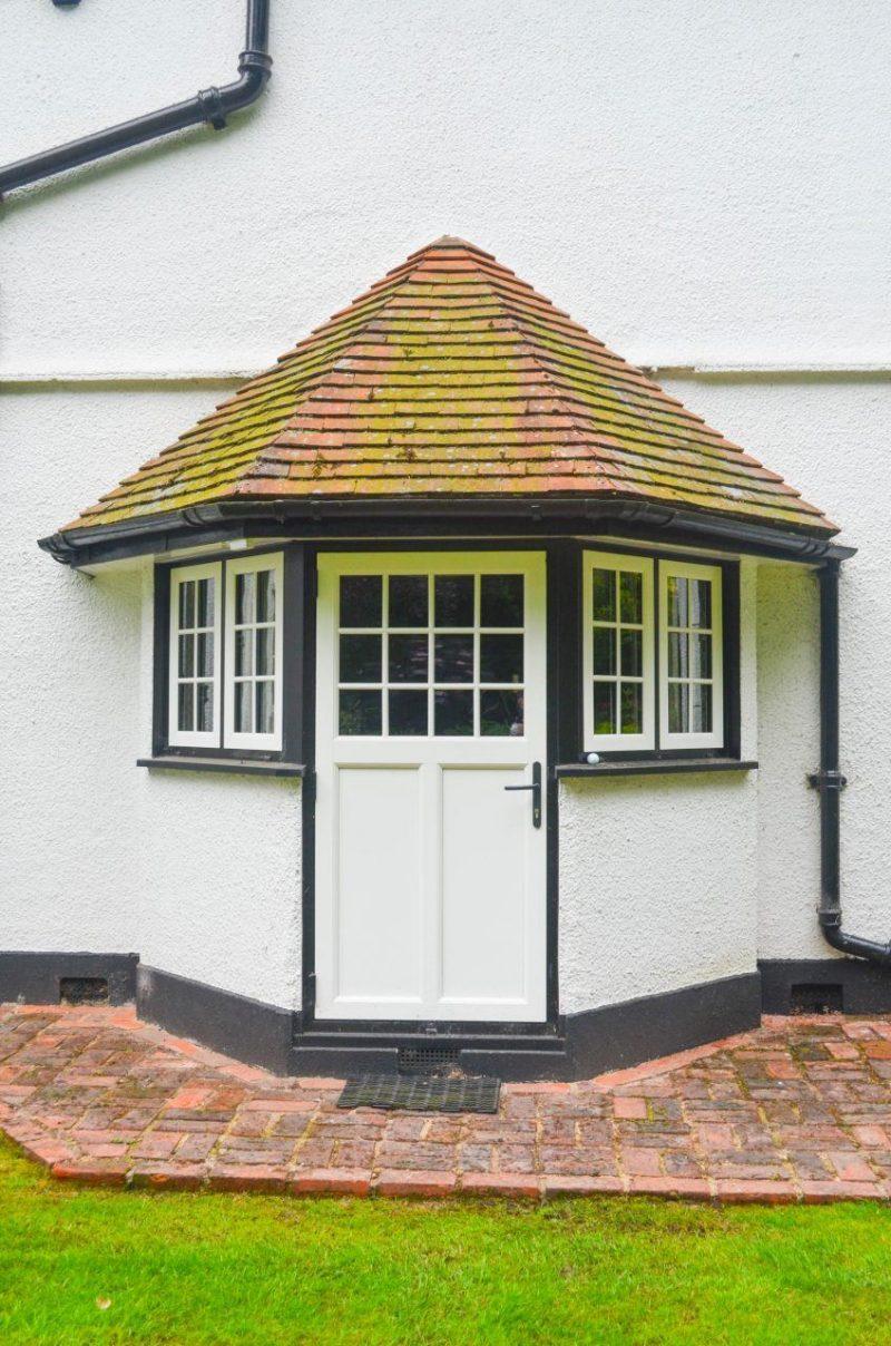Woodgrain effect upvc windows and door