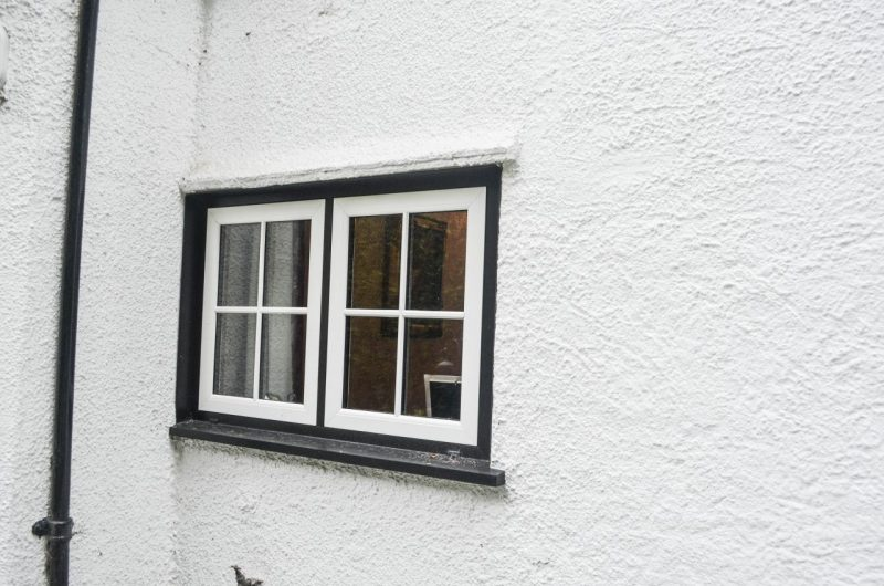 Woodgrain upvc small windows
