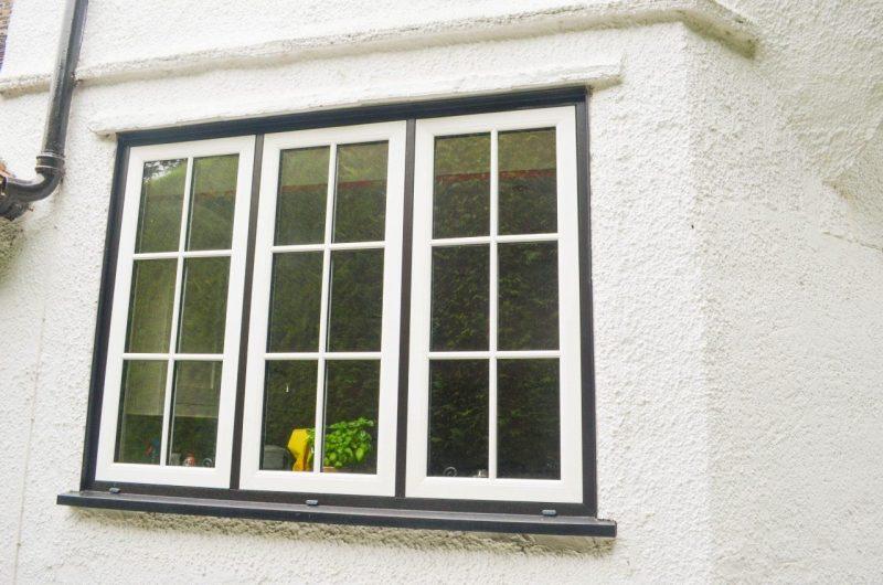 Woodgrain upvc window