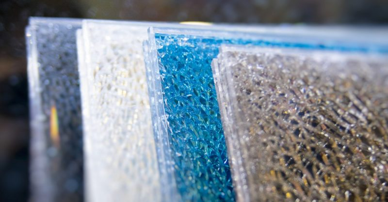 Crackled Glass Table Top