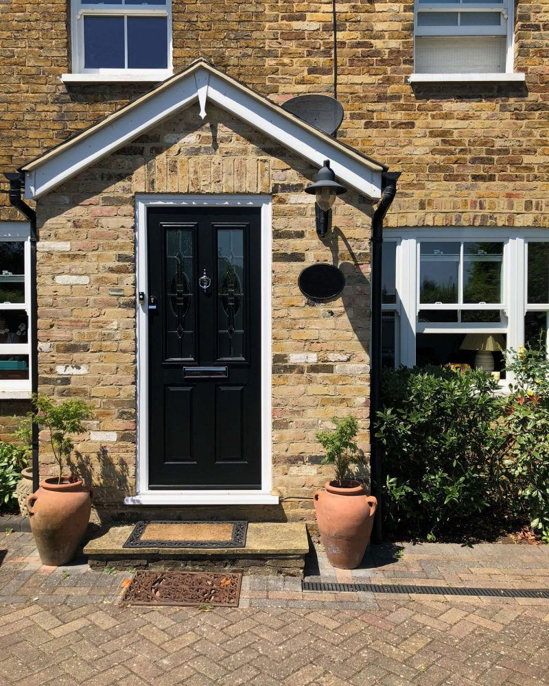 Solidor black front door