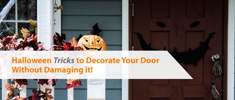 How to decorate your door for Halloween without damaging it