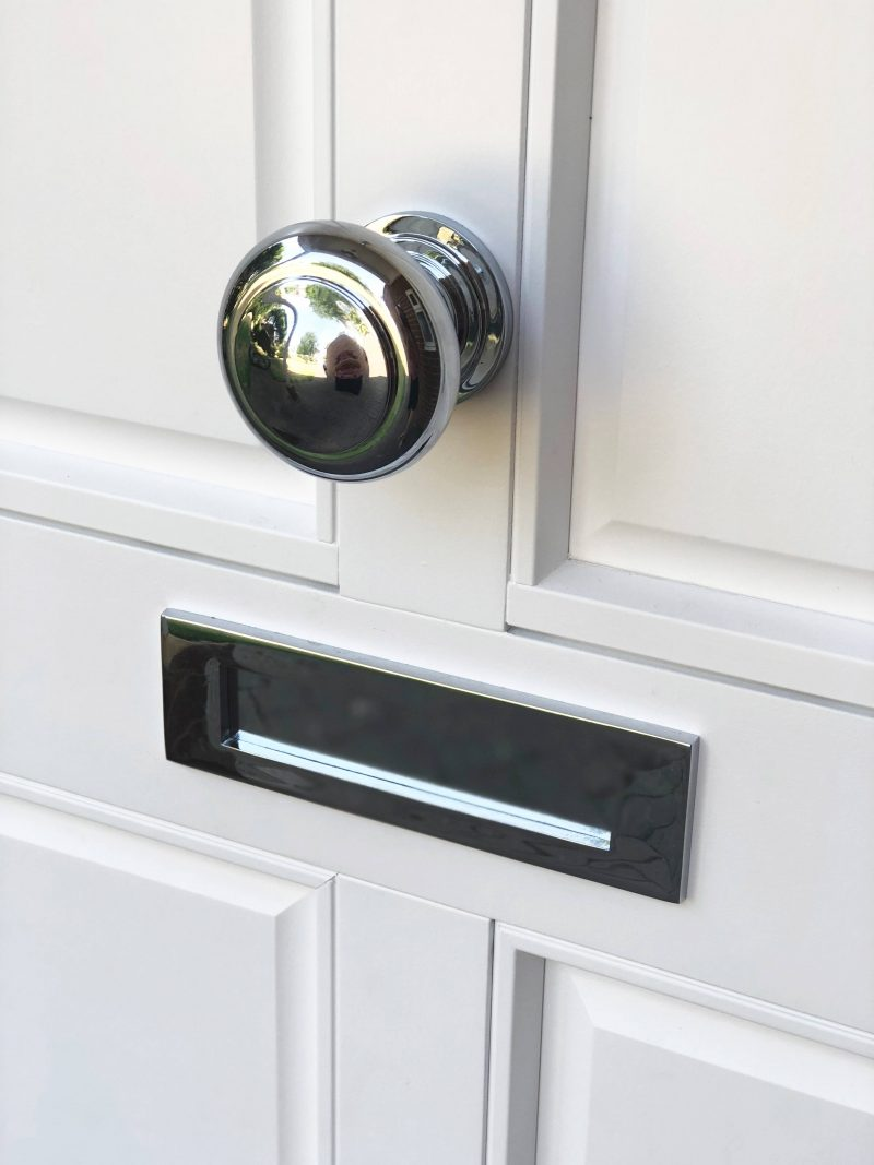 door knob and letterbox