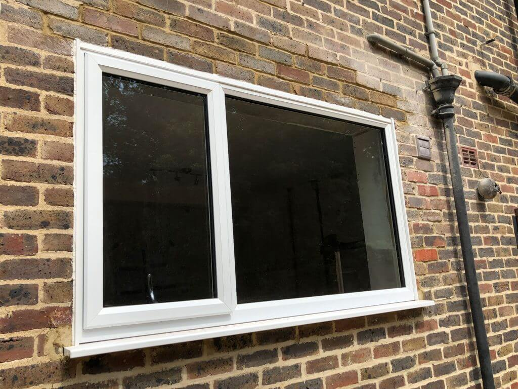Slimline uPVC window in White