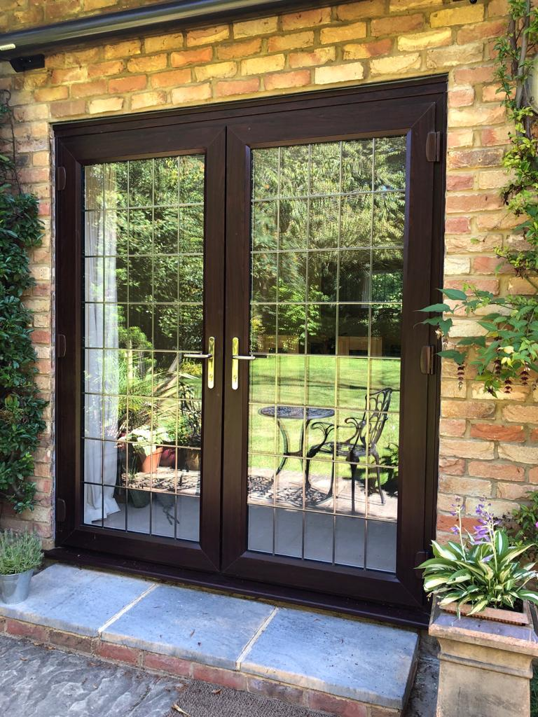 Rosewood slimline French doors