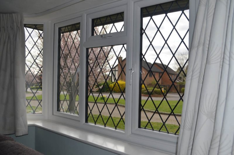 slimline uPVC window white internal view