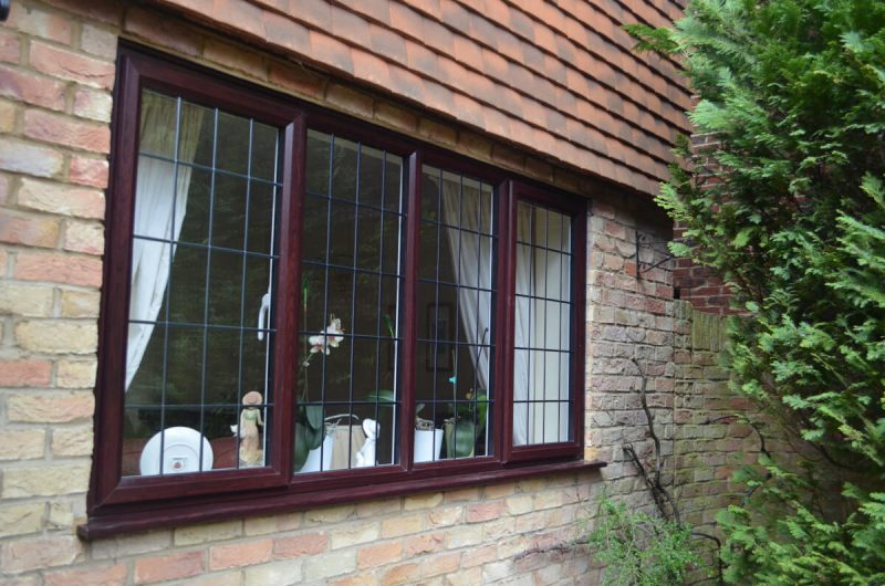 uPVC slimline windows with leaded glass