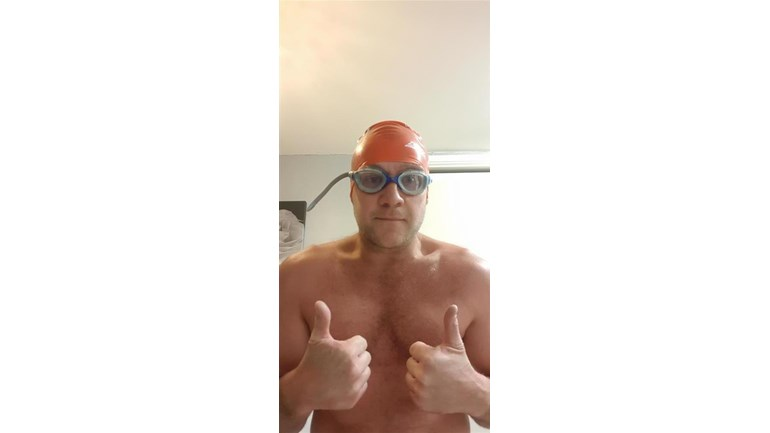 Andy - sponsored swim