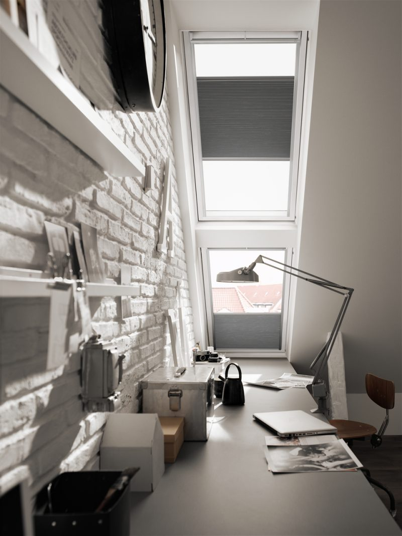 Velux window in home office