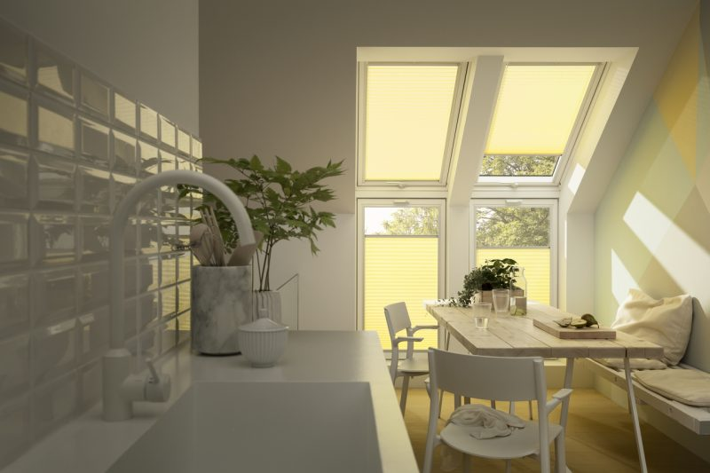 Velux windows with blinds