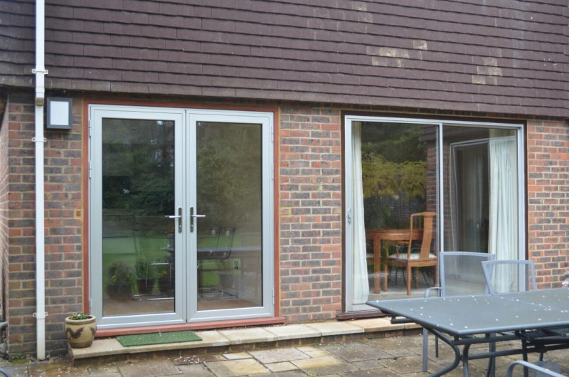 French doors and sliding patio doors in grey