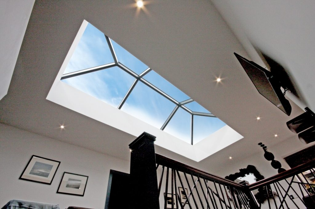 Interior view black ali roof lantern