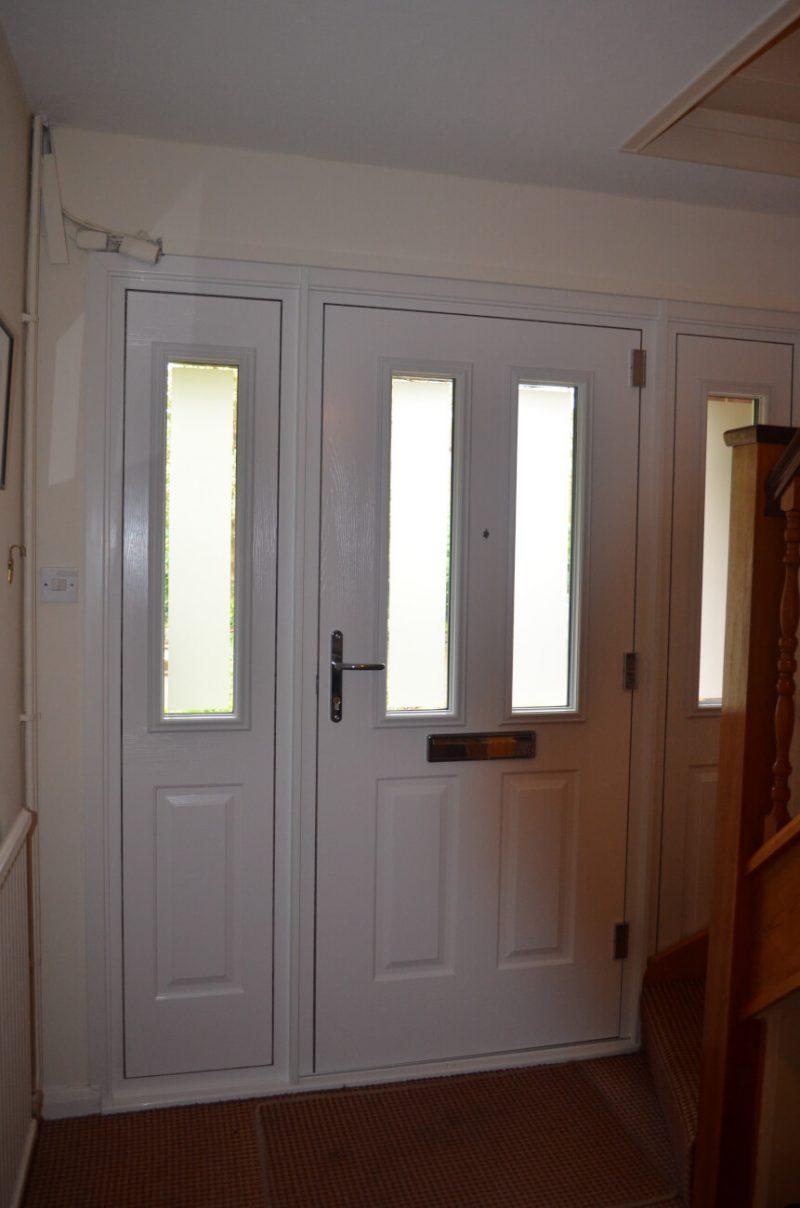 Internal view of a composite door