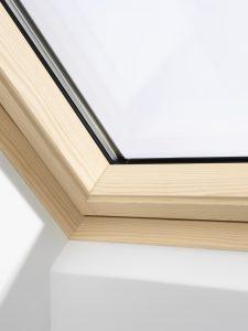 Pine velux window