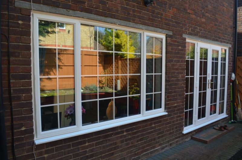 White slimline windows and doors