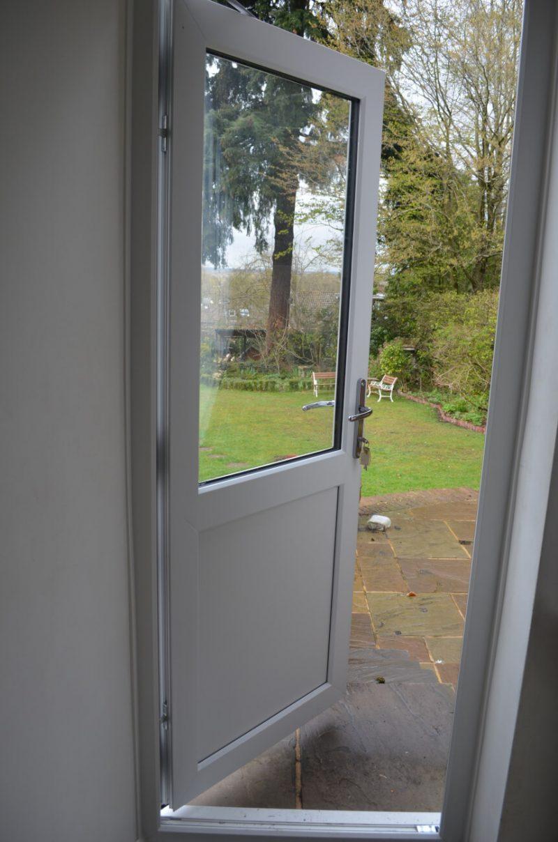 interior view of a uPVC back door