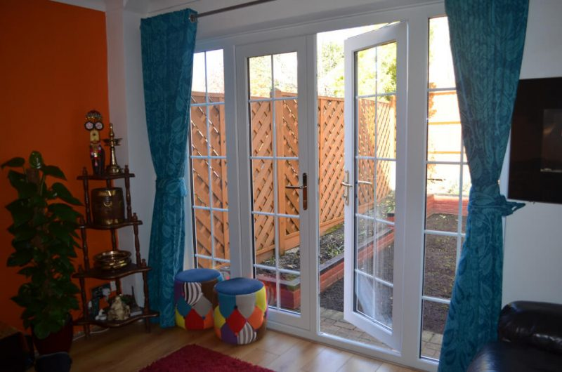uPVC french doors interior view